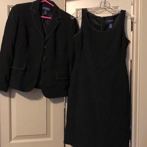 Black dress with suit jacket